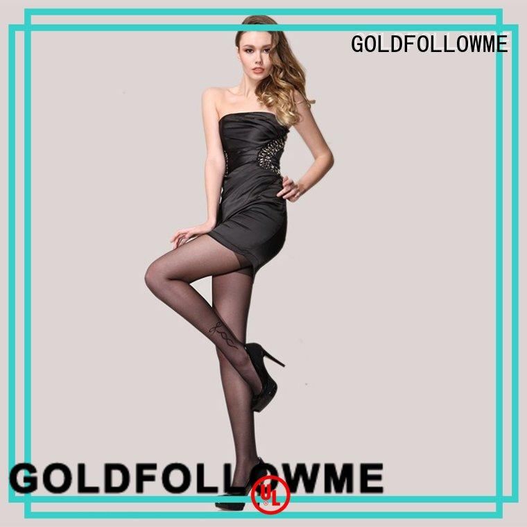 GOLDFOLLOWME Brand gold sexy grey patterned tights silk supplier