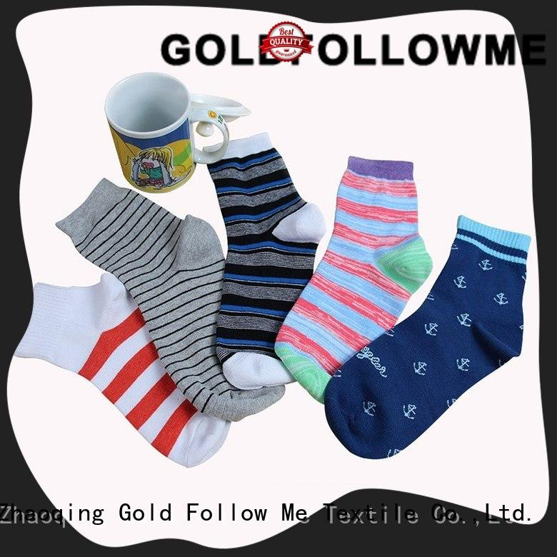 GOLDFOLLOWME cheapest factory price custom sock manufacturers free sample for sale