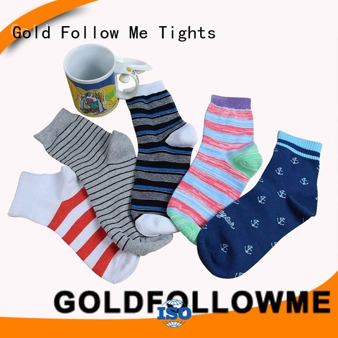 GOLDFOLLOWME promotional custom sock manufacturers free sample for sale