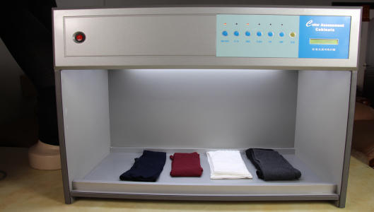 ColorAssessmentCabinets for tights and socks fabric color testing