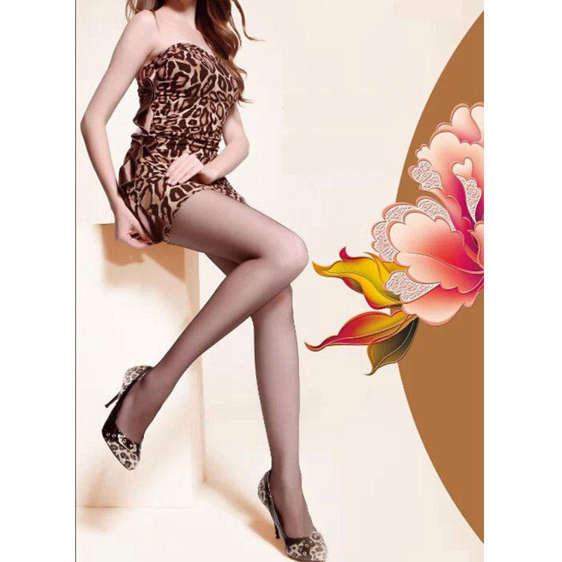 Ladies 150D Opaque Tights Gold Follow Me