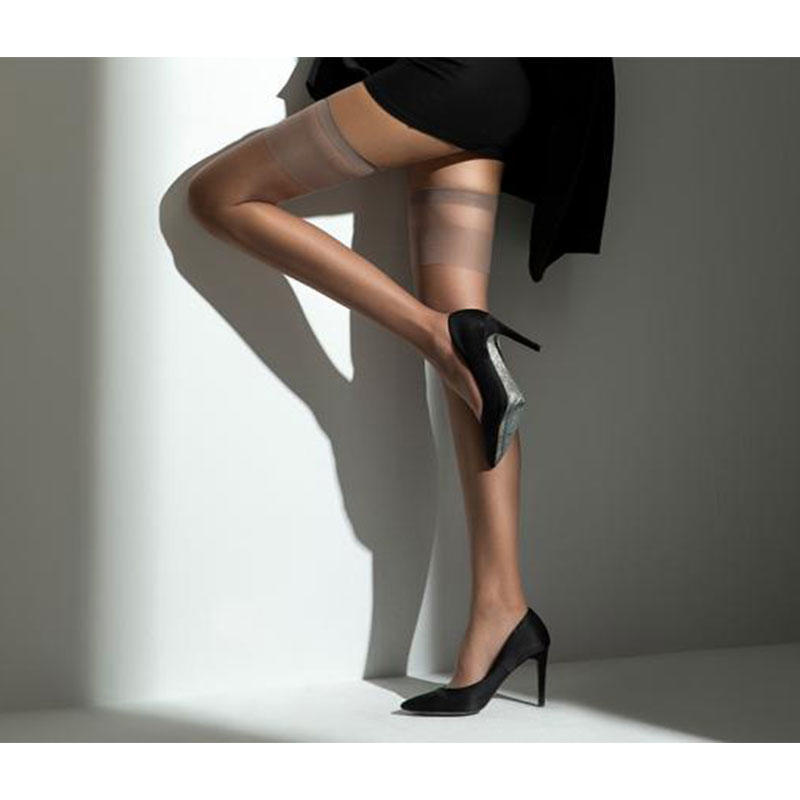 Ladies 12D Hold ups Gold Follow Me