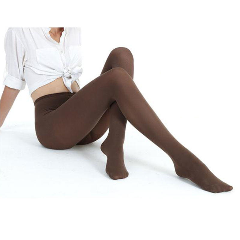 Black Silk Pantyhose 70D Opaque Tights Gold Follow Me