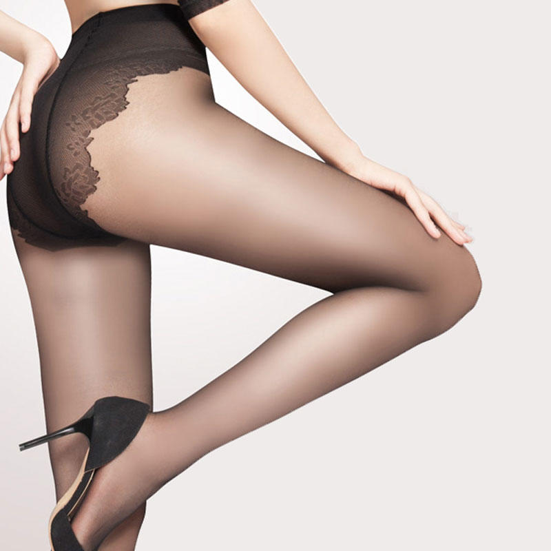 Women Sexy 15D Sheer Tights Gold Follow Me