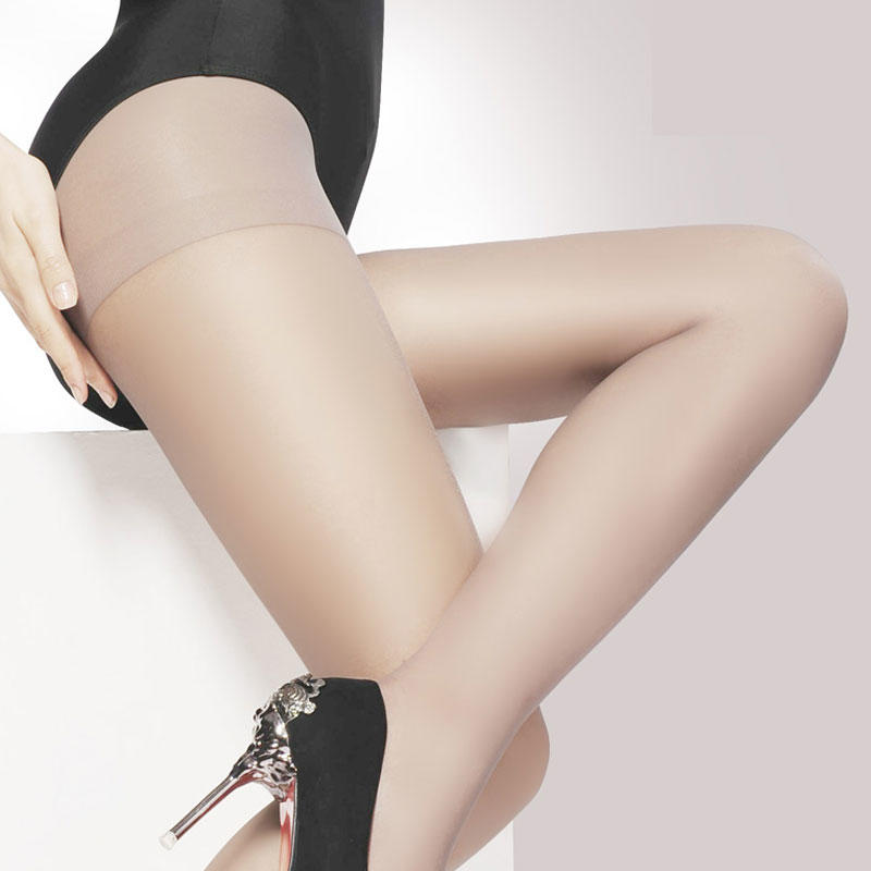 Women 5D Sheer Tights Gold Follow Me