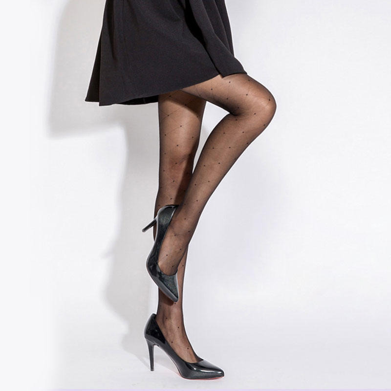 Silky Women Jacquard Pantyhose 8D Patterned Tights
