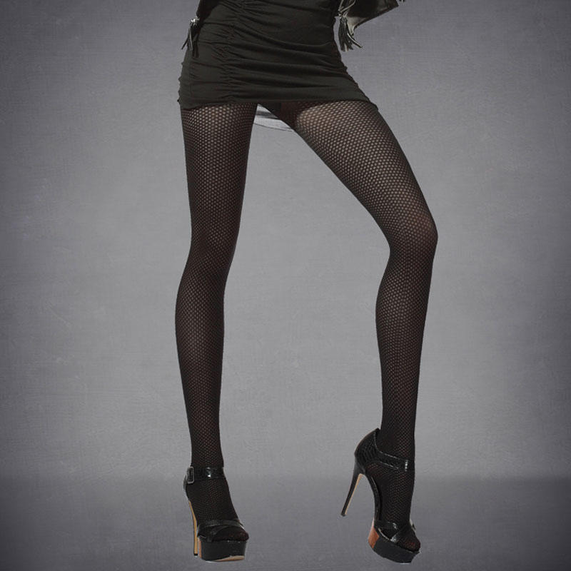 Women Ladies 10D Patterned Tights Gold Follow Me