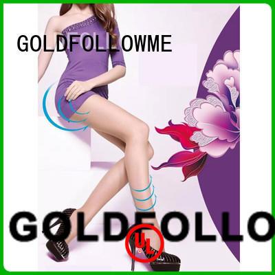 Women Soft 120D Opaque Tights Gold Follow Me