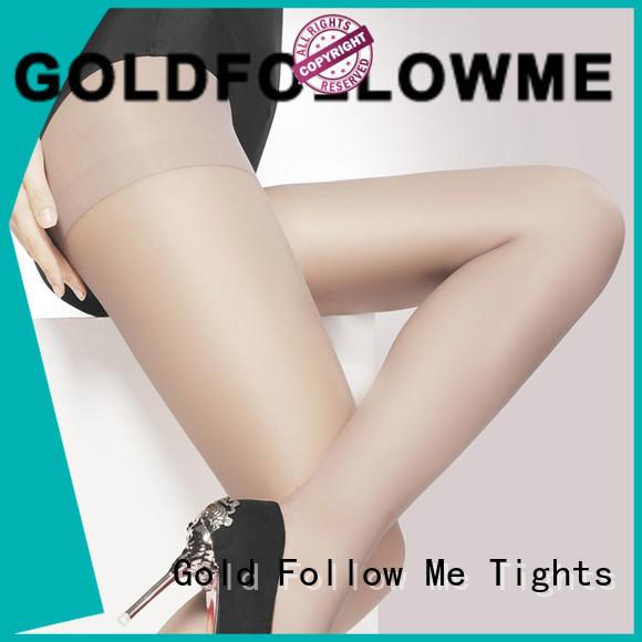 Women 5D Sheer Tights Gold Follow Me
