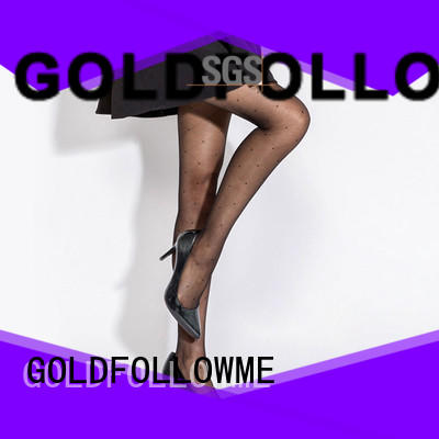 GOLDFOLLOWME comfortable black patterned tights eye-catching for wholesale