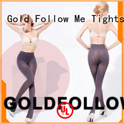 Woman Beautiful 40D Opaque Tights Gold Follow Me