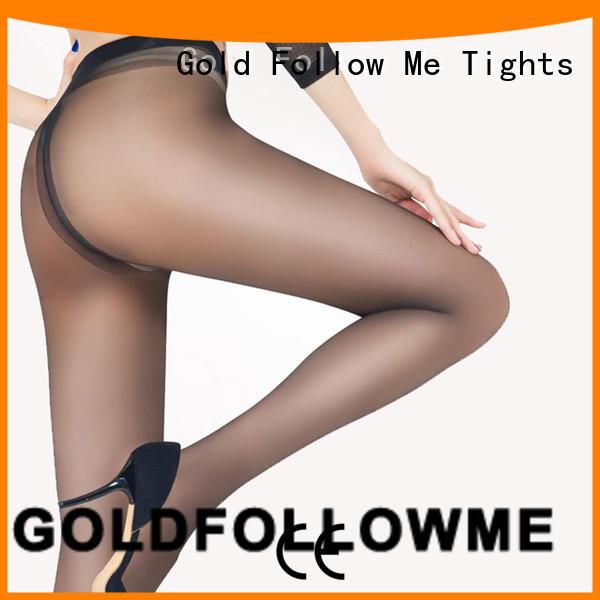 Women Sexy 15D Sheer Tights Gold Follow Me