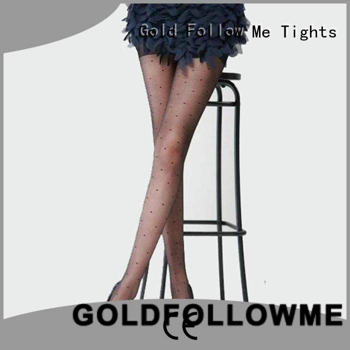 GOLDFOLLOWME custom black patterned tights best manufacturer for customization