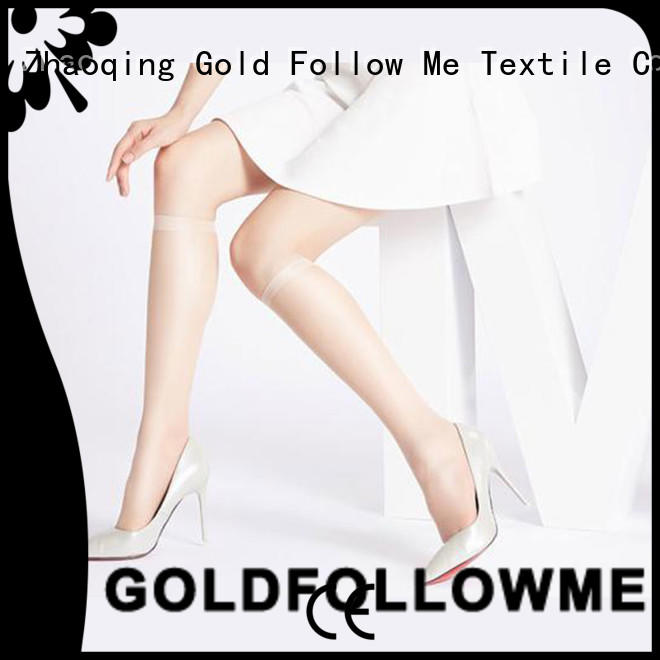 GOLDFOLLOWME best quality patterned knee high tights OEM at discount
