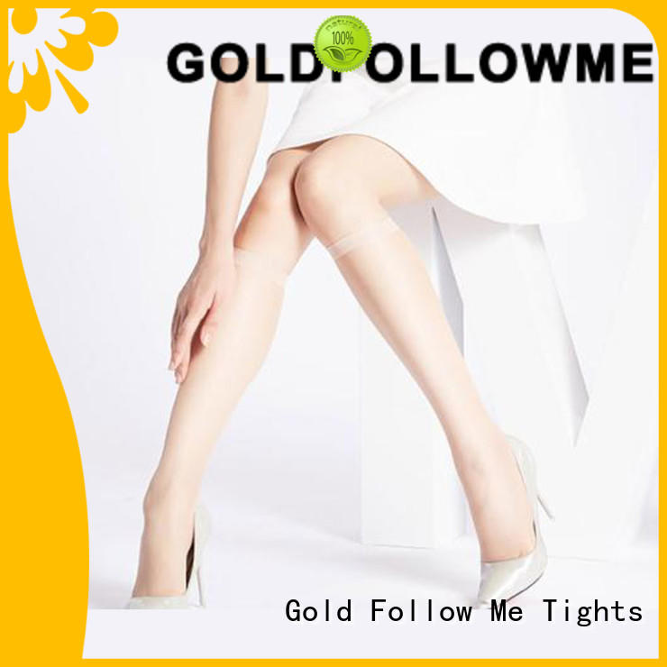 GOLDFOLLOWME top brand lace knee high tights best quality by bulk